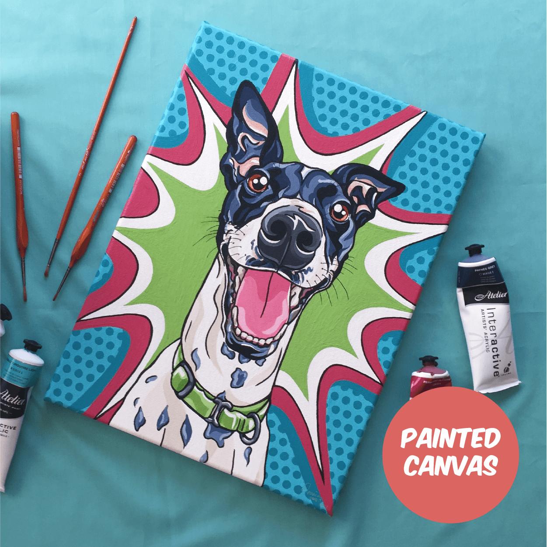 Dog Painting — Pet Portrait   Pop Art Puppy Dogs